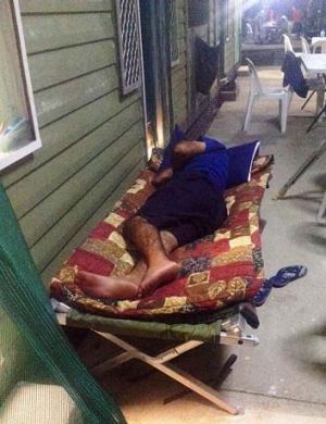 Hot ... sleeping outside escapes heat but not mosquitoes.