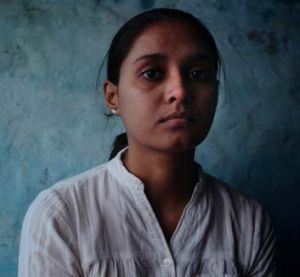Beaten by her family ... Sapna Singh, who was forced to marry.