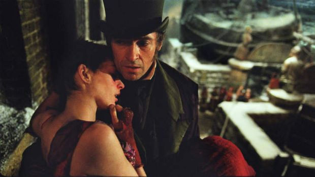 Hugh Jackman and Anne Hathaway in <i>Les Miserables</i>.