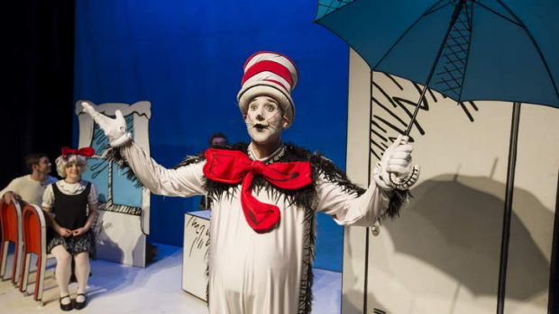 James Stafford as the Cat in the Dr Seuss's classic.