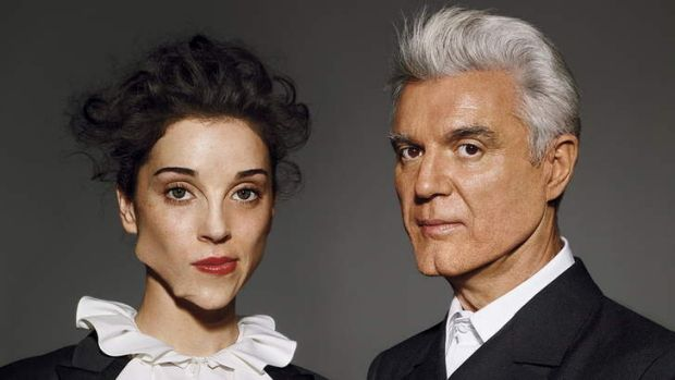 Genius duo ... David Byrne and St Vincent.