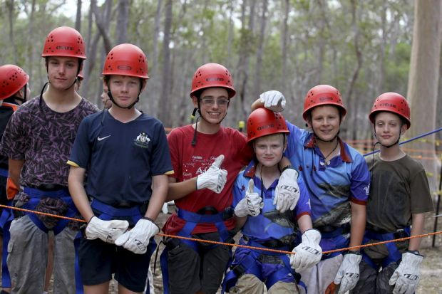 Gerry Wright, 12, Kailan Degnian, 13, Kyle Bennett, 13, Duncan Paterson, 11, Nicholas Rawson, 12, and Kael Walter, all ...