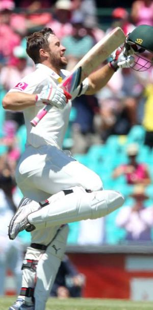 Second Test ton … Matthew Wade at the SCG.