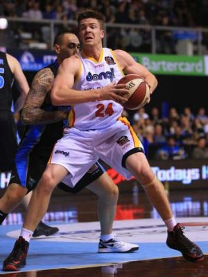 Late charge: Lucas Walker of the Melbourne Tigers says his team must be disciplined against the Sydney Kings.