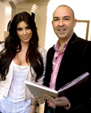 Close bond ... Kim Kardashian and Bruno Schiavi.