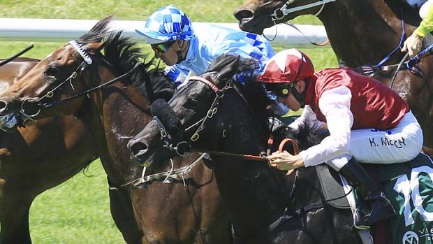 Double play … Kerrin McEvoy completed a race-to-race double when he rode the Peter Snowden-trained Sessions to ...