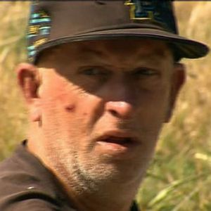 Screen grab. Step father of 14 year old boy who was killed in Scarsdale, Ballarat. Channel Ten News. 5 January 2013.