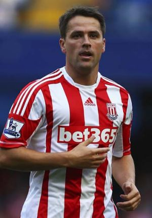On outer … Michael Owen is getting little game time at Stoke.