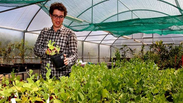 Industry beginning to flourish ... Ben Smider has just finished his agriculture masters degree at Sydney University.
