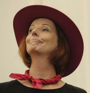 Coy reply ... Ms Gillard.