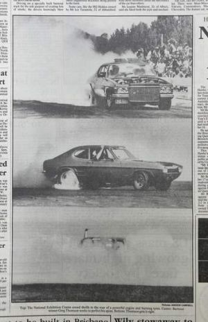 Copy of coverage of Summernats in <i>The Canberra Times</i> from 4 January 1988.