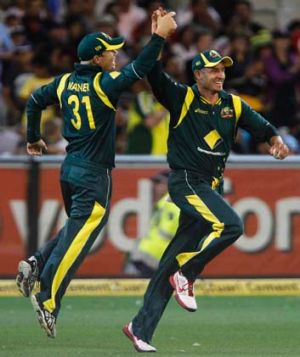 Rested and retired: David Warner and Michael Hussey.