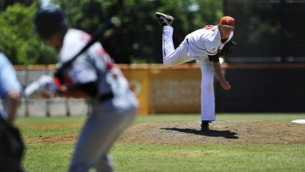 Cavalry pitcher John Holdzkom gave up just two hits, three walks and struck out six Perth bats.