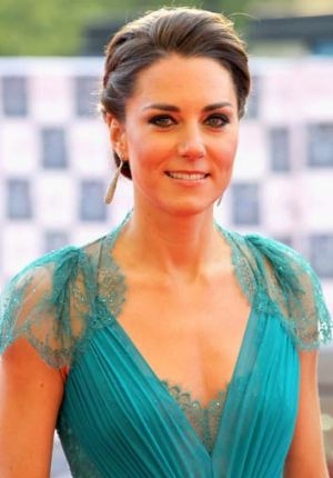What a gem ... Kate Middleton wears emerald in 2012.