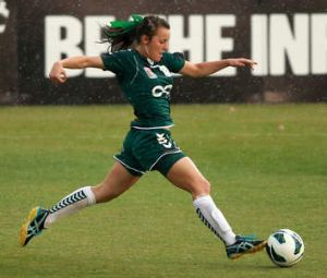 Hayley Raso in action during the match that was postponed.