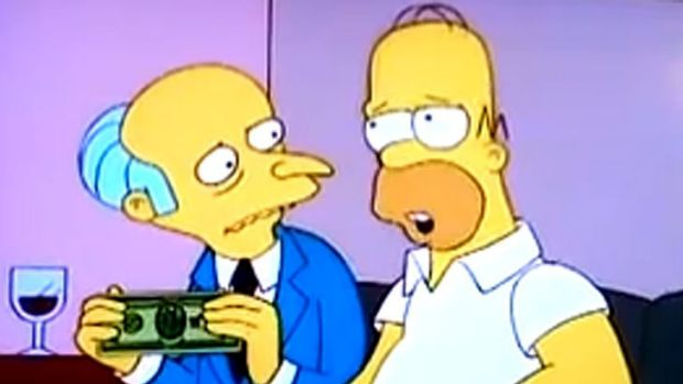 Was the trillion-dollar coin idea inspired by the Simpsons?