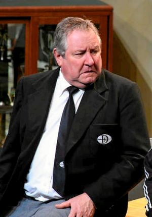 John Wood in a performance of The Club in 2008. The David Williamson play, again featuring Wood, is on HIT Productions' ...