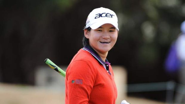 Yani Tseng during 2012 Womens Pro Am Golf at Royal Melbourne.