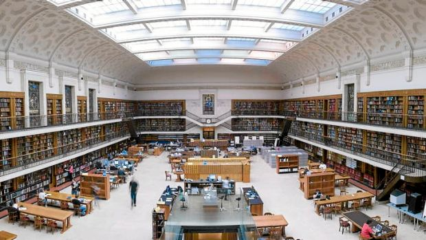 The Mitchell Library Reading Room in the State Library of NSW.