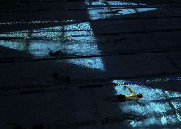 Light Triangle Swimmers.