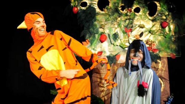 CAST CAPERS: Winnie (Miles Harrison) , Tigger (Lachlan Whan) and Piglet (Rachel Thornton).