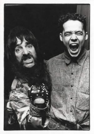 Adam Fulton with Harry Shearer as Derek Smalls from Spinal Tap.