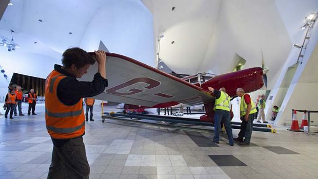 Museum's pride … the 1936 aircraft designed by the Australian engineer Edgar Percival.