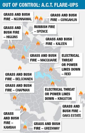 Fire map graphic