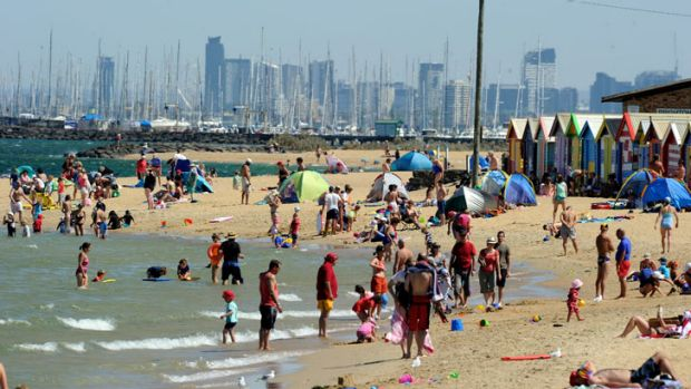 Life's a beach ... As the warming trend increases over coming years, record-breaking heat will become more and more ...