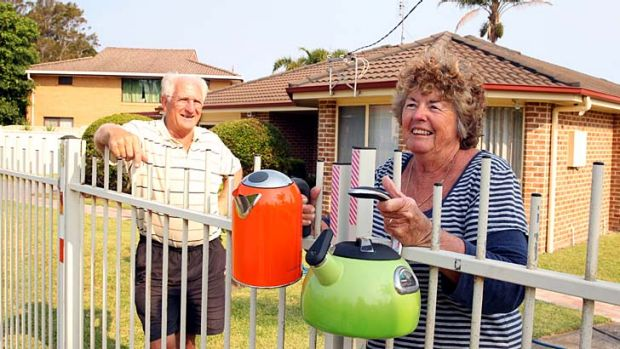 """I thought down there I could make a cup of tea for everyone"" ... Sussex Inlet resident Janice Carradus."