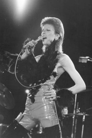 Bowie at London's Marquee Club in 1973.