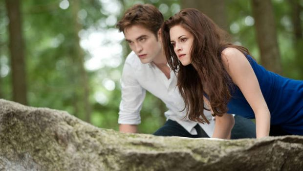 Breaking bad ... Robert Pattinson and Kristen Stewart in <i>Twilight Saga: Breaking Dawn - Part 2</i>.