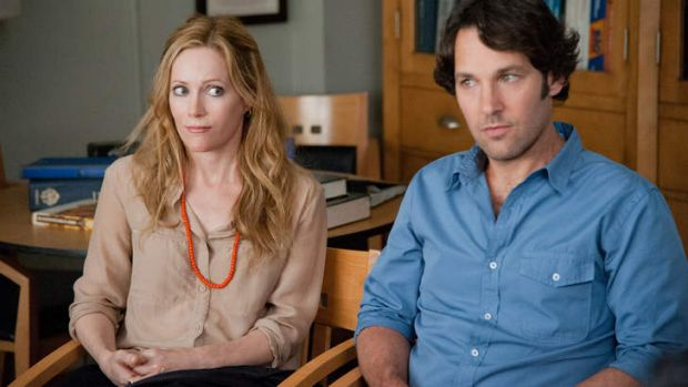 Crisis point ... Debbie (Leslie Mann) and Pete (Paul Rudd) face the realities of adulthood.
