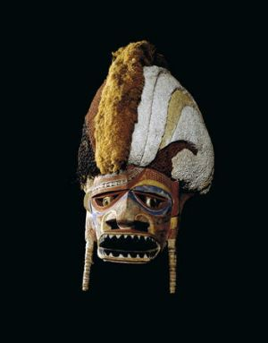 Island culture ... a tortoise-shell mask from the Torres Strait Islands, collected in the late 19th century.