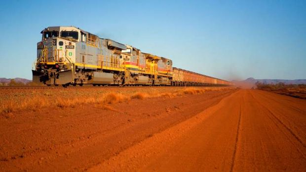 The Pilbara iron ore operations use some of the world's longest trains. This train on the Tom Price Railway is destined ...