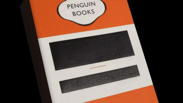The cover of the Penguin unabridged edition of George Orwell's <i>1984</i>.