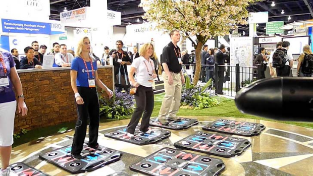 The CES fitness and health zone has a variety of gadgets and services.