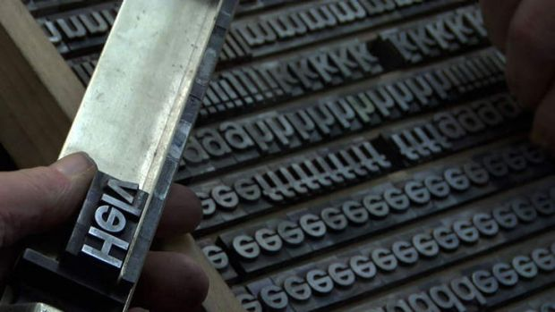 A scene from <i>Helvetica</i>.