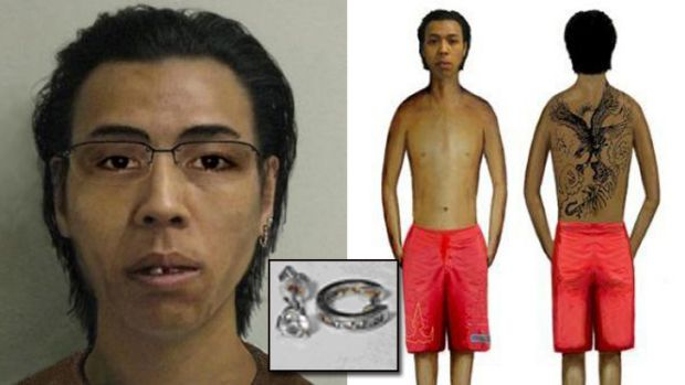 The man with the tiger tattoo ... Police have released computer-generated images of the victim and his distinctive ...