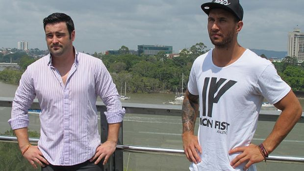 Barry Dunnett and Quade Cooper get acquainted at Kangaroo Point last month.
