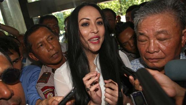 After winning Miss Indonesia, Angelina Sondakh became a singer and a Paris Hilton-style celebrity without a job.