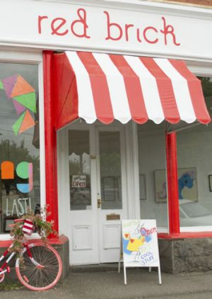 The Red Brick Gallery and Emporium is a space for local artists.