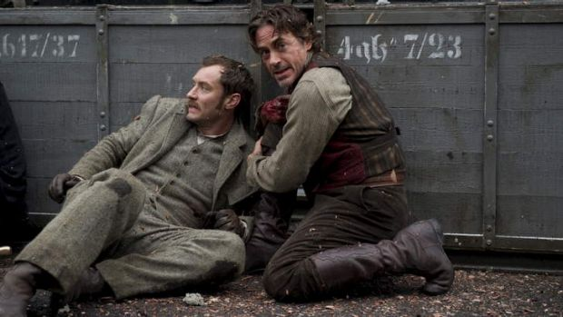 Jude Law and Robert Downey jnr, two of the latest portrayals of Dr Watson and Sherlock Holmes.