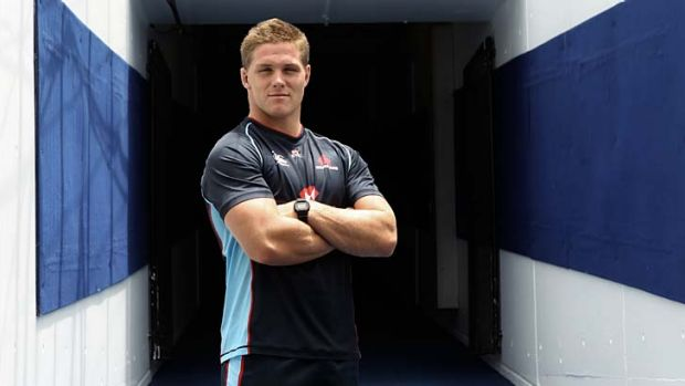 Revelation ... Michael Hooper brings his huge workrate at No.7 to the Waratahs this season.