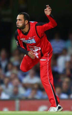 PM's XI call-up: leg-spinner Fawad Ahmed in action for Melbourne Renegades at the SCG on Wednesday.