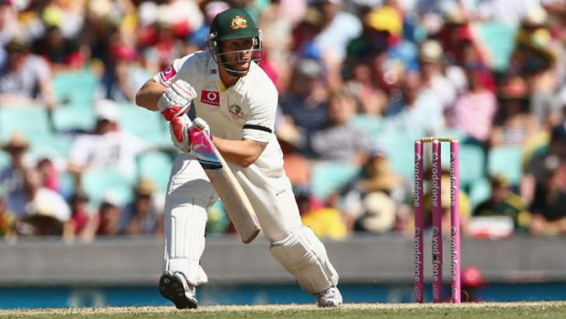 Matthew Wade bats during the Third Test against Sri Lanka at SCG.