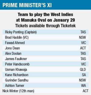 The PM's XI team.