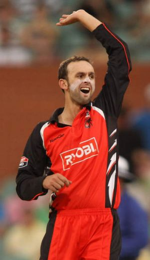 Nathan Lyon has taken eight wickets in nine one-day matches for the Redbacks.