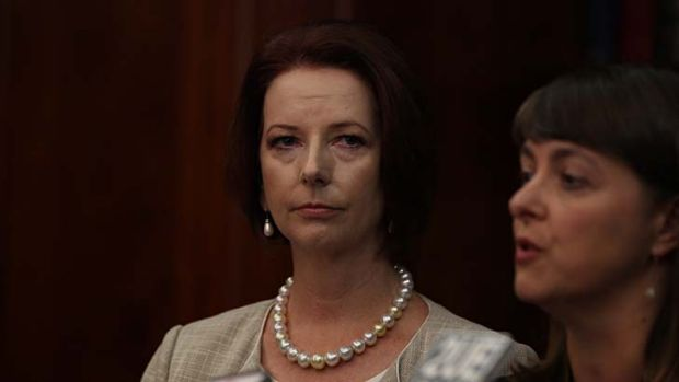 Committed ... the Prime Minister, Julia Gillard, and the Attorney-General, Nicola Roxon, announcing the comissioners.