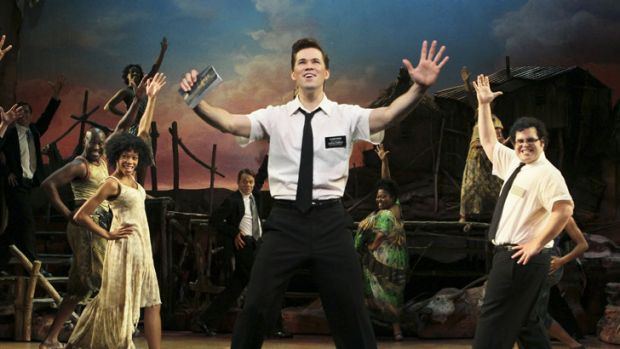 Andrew Rannells in the New York production of <i>The Book of Mormon</i>.
